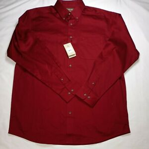 Ariat Mens XLT Extra Large Red Long Sleeve Button Up Shirt New With Tags $40.00