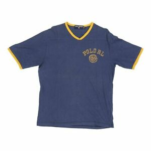 Vintage Polo Sport T Shirt Medium Blue Cotton GBP 29.20