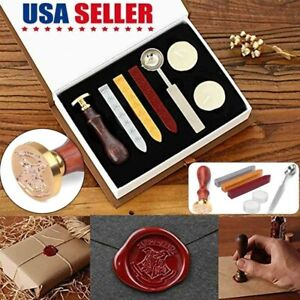Wax Kit Seal Stamp Alphabet Initial Letter Vintage Personalized Valentines Gift