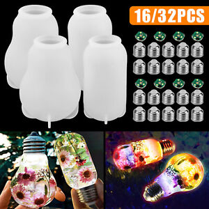 Silicone Resin DIY LED Light Bulb Molds Chip Base Cover Epoxy Making Tool Mould $14.48