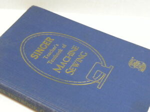 Rare 1955 Singer Machine sewing Book for Attachments Blue HC $255.00