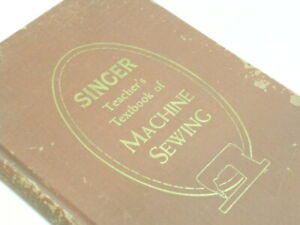 Rare 1957 Singer Machine sewing Book for Attachments Brown HC quot;Libraryquot; $205.00