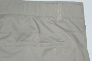 Under Armour Golf Pants 36x30 Beige 1309545 Showdown Pant Recent Flat Front B42 $29.99
