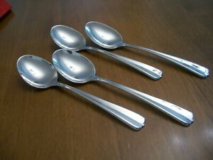 Oneida USA Stainless GALA IMPULSE 6 3 4 Soup Cereal Place Spoons Set of 4