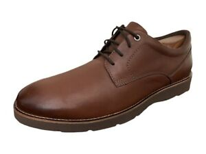 Clarks Oxfords 16501 Collection by Clarks Brown Leather Shoes Mens 11.5M $59.99