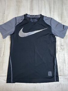 NIKE Pro Dry Fit Shirt Youth Size Large Fitted Black Gray $12.00