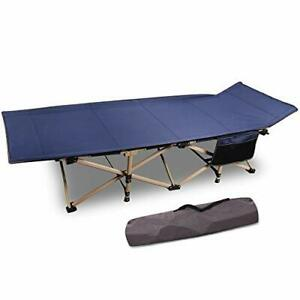 CAMPMOON Folding Camping Cots for Adults 500lbs Heavy Duty Sturdy Portable Sl...