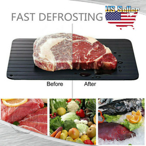 9 Fast Defrosting Tray Rapid Thawing Board Safe Defrost Meat Frozen Food Plate