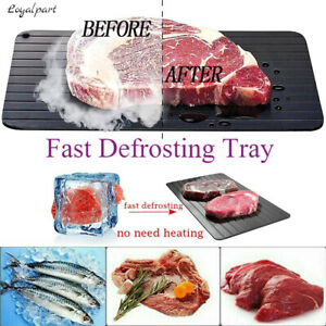Fast Defrosting Tray Rapid Thawing Board Safe Defrost Meat Plate Frozen Food US