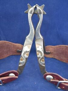 PAIR OF DOUBLE MOUNTED TOM JOHNSON JR SPURS