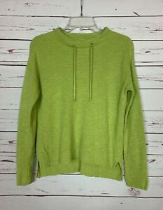Eileen Fisher Womens Petite Small PS Lime Green Linen Cotton Spring Sweater Top $38.00