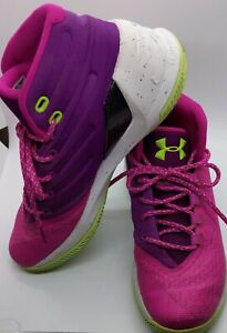 Under Armour Shoes Womens 8 Youth Kids 6.5 Pink Purple Tennis Walking Sport $15.99