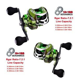 Baitcast Fishing Reels 181BB Super Smooth 7.2:1 Fresh Water Left Right Hand US