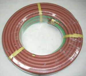 Twin Welding Hose 1 4 x 50 Grade T for Oxygen amp; Propane or LP Gas Torch Cutting $49.95