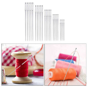 25PCS Large Eye Hand Sewing Needles 5 Assorted Sizes Easy Thread Craft Tools $6.33