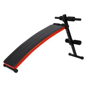 Folding Sit Up Bench Decline Abdominal Home Gym Workout Exercise Equipment 120KG $71.99