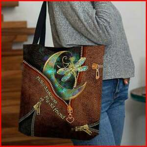 hello darkness my old friend hippie soul dragonfly handbag bucket bag Tote Bag