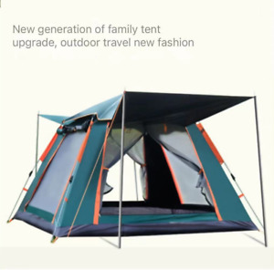 Outdoor full automatic quick opening beach camping rain proof tent for 3 4 peopl
