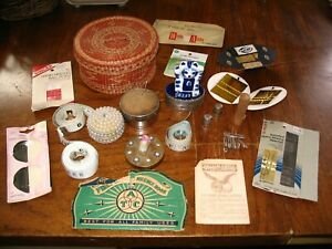 Large Mixed Lot VINTAGE SEWING ITEMS Pin Holders Vintage Needle Packages Thimb $20.00