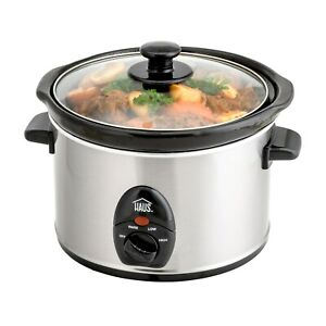 Haus Stainless Steel 2.5 qt. Slow Cooker