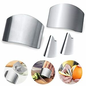 Palksky Finger Guards for Cutting Stainless Steel Finger Knife Protect Chef Fin