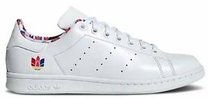 New adidas Originals Stan Smith Mens athletic sneaker white leather sizes 8 13 $100.00