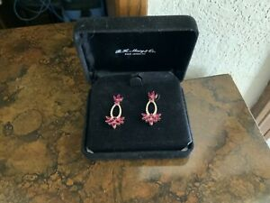 Stunning Ruby And Diamond Earrings By Effy