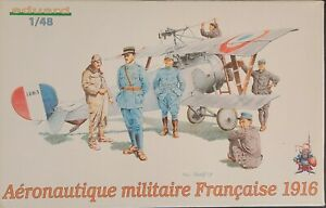 1 48 Eduard 8511: French Military Aviation Personnel 1916 WWI $15.97