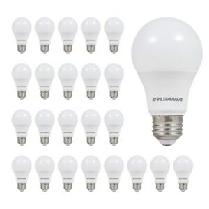 SYLVANIA LED Light Bulb 60W Equivalent Efficient 8.5W Frosted Daylight 24pk