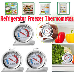 Refrigerator Freezer Thermometer Stainless Steel Hang Stand Fridge DIAL Type NEW