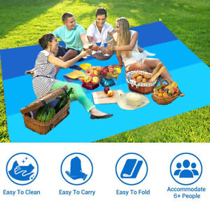 Family Picnic Outdoor BBQ Pad Mat Sand Free Beach Blanket Extra Large Waterproof