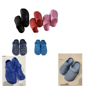 New youth boys girls blue red black pink color pvc clogs slippers size 13 5