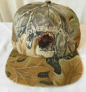 Vintage Hat CANOOCHEE AREA CHAPTER 1996 NWTF Camo Hunting National Wild Turkey F