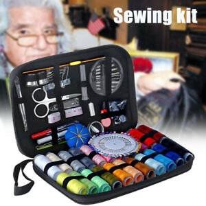 126Pcs Set Sewing Kit Scissors Needle Thread Portable Sewing clothes Tool $15.89