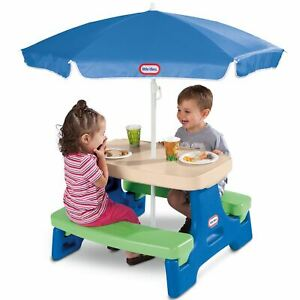 Little Tikes Easy Store Jr. Play Table with Umbrella $33.99