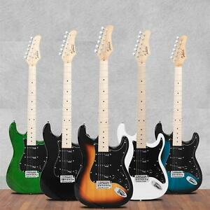 Glarry GST II Upgrade Right Electric Guitar Basswood Body Maple Neck 5 Color $129.99