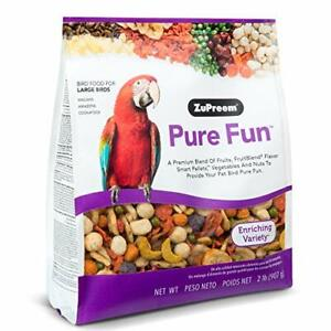ZuPreem Pure Fun Bird Food for Large Birds Powerful Blend of Assorted Sizes $20.50