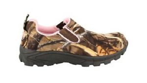Duck Commander Realtree Max 4 Camouflage Pink Women#x27;s Quack Up Camo Moc Size 8.5