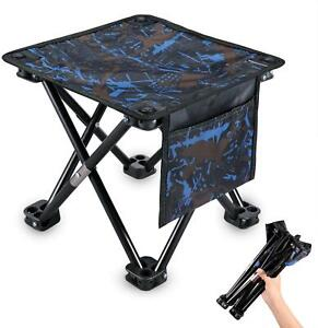 Folding Camping Chair Portable Small Seat Barbeque Stool For Fishing BBQ Hiking