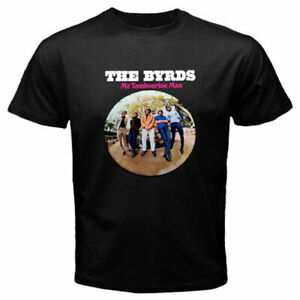 New THE BYRDS Mr. Tambourine Man Unisex#x27;s Black T Shirt Size S to 6XL $20.99