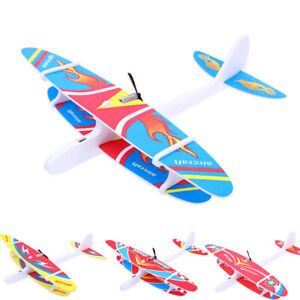 Hand Throwing Glider Airplane Capacitor Electric Aircraft Foam Plane Outdoor Toy