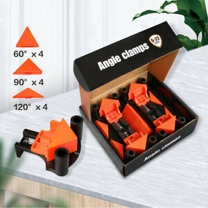12Pcs Set 90Degree Right Angle Clip Clamps Corner Holders Woodworking Hand Tools $16.99
