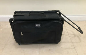Tutto 22quot; Collapsible Carry On Luggage Suitcase 4022BST Black Wheels Handle $69.95