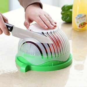 Salad Cutter Bowl 60 Seconds Multifunctional Food Fruit and Vegetable Chopper