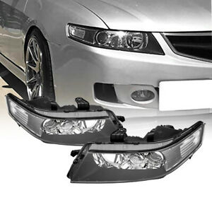 Headlights Projector Headlamps Factory Style Black Pair for 2004 2007 Acura TSX $157.03