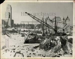 1967 Press Photo Snowy Construction Site in Albany New York tub19811 $13.88