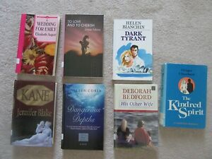 Lot of 7 Romance Books Large Print 2SC 5HC Wedding for Emily His Other Wife $11.99