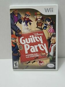 Disney Guilty Party Nintendo Wii 2010 CIB With Manual 4 player Free Ship M2 $12.99