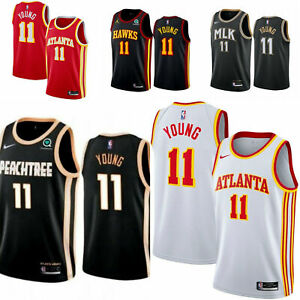 New Mens Adult Trae Young ICON Jersey Stitched #11