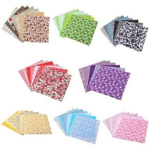 7PC Quilting Bundle Patchwork Cotton Fabric Handmade DIY Sewing Crafts Floral US $6.69